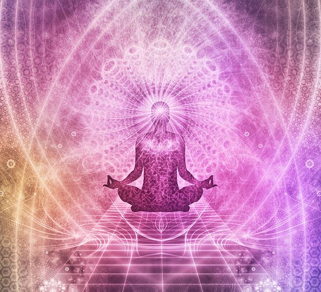Energy Cleansing in Violet Light Sound Bath Meditation